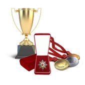 Ceremonial attributes: orders, medals, awards