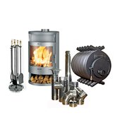 Stoves, fireplaces, furnaces, chimneys and accessories
