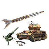 Weapons for antiaircraft defence