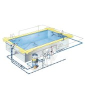 Construction of swimming pools, saunas, steam baths