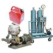 Cleaning and regeneration of liquids, oils, fuels