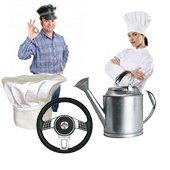 Los servicios del conductor, cocinero, jardinero