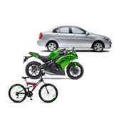 Services of car, motorcycle and bicycle transport