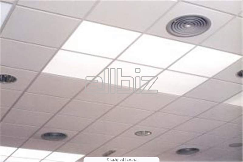 Suspended ceilings from panels