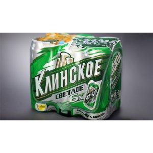 Пиво Клинское светлое в банках 0,5л