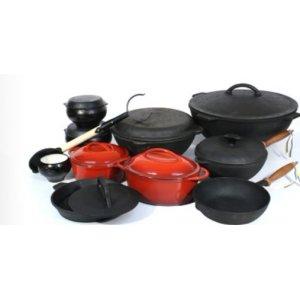 Чугунная посуда (казаны, сковороды, кастрюли)
