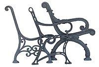 Боковины (опоры) лавок садовых (парковых) стульев и столов