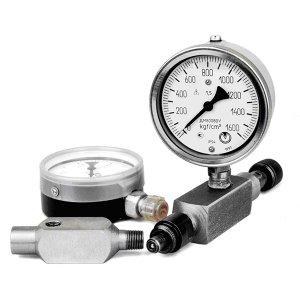 Измерительные приборы, указатели уровня жидкости с термометром и без, соединения измерительные
