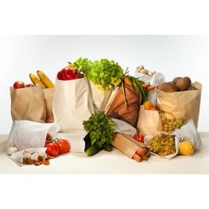 Бумажные пакеты для овощей, фруктов и зелени.