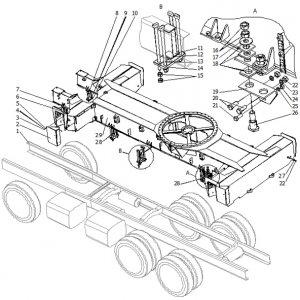 Установка платформы поворотной КС-65721