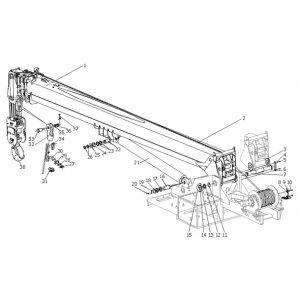 Установка стрелы (стрела в сборе) КС-65721