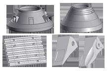 Комплектующие для горнодобывающего оборудования