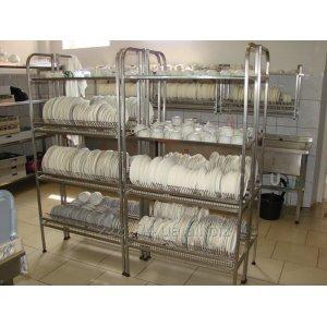 Стеллажи сушки и полки сушки для посуды