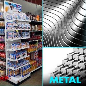 Торговые стойки металлические