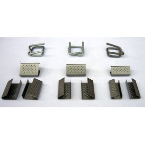Clamps for strapping tape