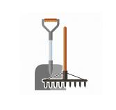 Лопаты, грабли, мётлы