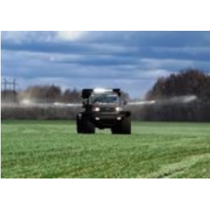 Self-propelled fertilizer spreader based on UAZ-Patriot